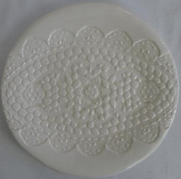 Handmade plate with clear glaze